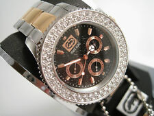 MARC ECKO LADIE'S 2 TONES INTERCHANGEABLE RING WATCH E17593M1