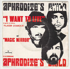 ♫ Aphrodite's Child ♫  I want to live ♫ Mercury 1969 ♫ vinyle 45 tr .Vangelis
