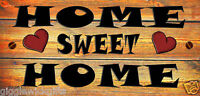 FUNNY WOODEN PLAQUE HOME SWEET HOME GIFT PRESENT