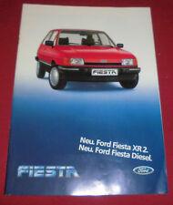 dachbodenfund prospekt kfz ford fiesta xr2 diesel reklame heft werbung 1983 auto