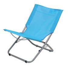 10T Sunchair - Silla de camping portátil para playa, plegable, tejido en azul cl