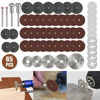 65pcs Diamond Cutting Disc Wheel Set for Dremel Rotary Tool Accessories Cut Off