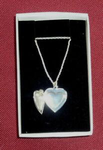 Halskette mit Herz aufklappbar, Fotomedaillon, Fotokette