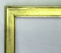 "ANTIQUE FITS 13"" X 15"" LEMON GOLD GILT WOOD PICTURE FRAME FINE ART VICTORIAN"