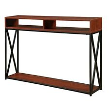Convenience Concepts Tucson Deluxe 2 Tier Console Table, Cherry/Black - 161889CH