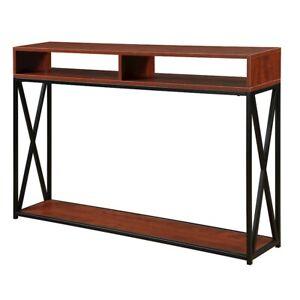 Convenience Concepts Tucson Deluxe 2 Tier Console Table, Cherry/Black - 161889CH