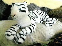 "Ikea Giant White Tiger Cat plush stuffed 32"""