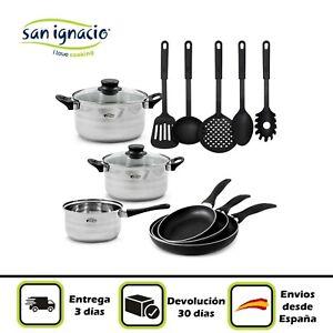 Batería de cocina San Ignacio inducción acero inoxidable opción complementos