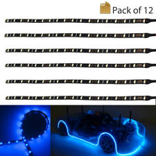 12X 30cm LED Strip Light Underbody Flexible Waterproof Car Motor Track DC 12V