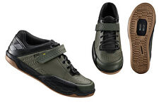 Shimano SH-AM5 Gravity BMX Cycling Shoes Army Green - 42 (US 8.3) AM5