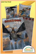 Bettwäsche Dragons Drachen Drachenzähmen leicht gemacht Gr. 135x200 cm  NEU