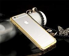 DIAMOND CRYSTAL BLING METAL ALUMINUM BUMPER CASE COVER FOR IPHONE SE 5 6 6S PLUS