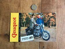 catalogue brochure moto numéro 18 peugeot 1957