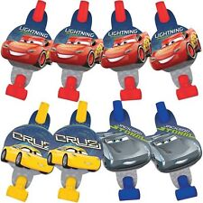 DISNEY CARS 3 BLOWOUTS PACK OF 8 BIRTHDAY PARTY SUPPLIES BLOWERS