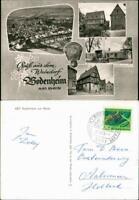 Ansichtskarte Bodenheim am Rhein Luftbild, Bahnhof 1969
