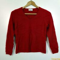 CHARTER CLUB V-neck CASHMERE L/S Sweater Womens Size M Red