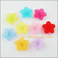400pcs imitation pearl material mixed flowers14x6mm