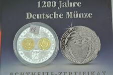 Einführung des Euro Medaille aus 999 Gold und Silber Deutsche Münze. .M213
