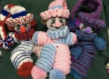 New listing Crocheted Clowns Handmade Assorted Colors
