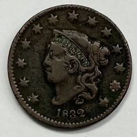 1832 Coronet Head Large Cent 1¢ Fine - Very Fine