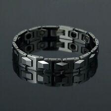 New Silver Tungsten Carbide Magnetic Energy Stone Men/lady Bracelet TS45