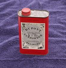 Clean 1950s DUPONT Superfine Gunpowder, Wilmington, Delaware 1 lb.Tin Can, empty