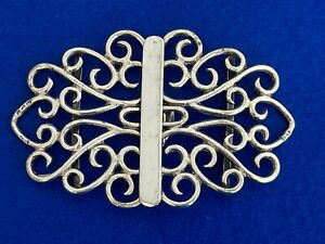 A Large Solid Silver Antique Nurses Belt Buckle - Chester 1898 - Sterling Silver