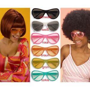 ROSA HIPPIE BRILLE # Hippiebrille Sonnenbrille Flower Power Schlager Party 6865