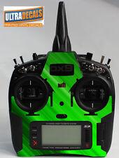 Green Abstract Skin Wrap Decal Spektrum DX9 DX8 DX7S Transmitter Controller R