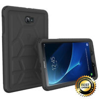 Samsung Galaxy Tab A 10.1 Case Poetic TurtleSkin Silicone Protection Cover Black