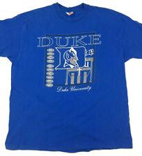 Vtg 90s Duke Mens T-Shirt Blue Devils Spell Out Script Logo Basketball Usa Xxl