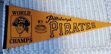 Vintage MLB 1970's PITTSBURGH PIRATES THREE RIVERS STADIUM Full Size Pennant