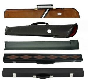 Pool Billiard Snooker Hard or Soft Cue Case For 2 Piece Cue - Wide Selection