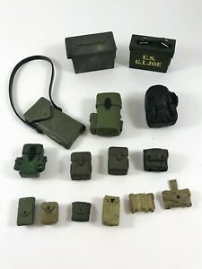"""GI Joe Ultimate Soldier 12"""" Accessories Ammo Pouches Boxes Backpacks Lot #1"""