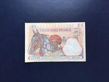 Afrique Française Libre Billet 25 Francs  Série A