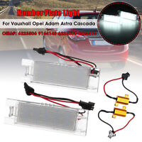 2x LED License Number Plate Light For Vauxhall Opel Astra H Corsa C D Lamp Bulbs