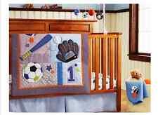 9 Piece Boy Baby Bedding Set Sport Balls Nursery Quilt Bumper Sheet Crib Skirt