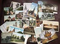 *Lot of 25 CHURCHES VIntage Postcards Antique NH Utah NY PA VA WI NC LA IL VT*