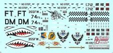 Authentic Decals 1/48 A-10C Warthog with mission marking # 4868