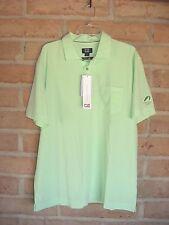 Cutter & Buck DryTec Luxe Golf Shirt Sherbet Green  Dove Valley  Men's Large NWT
