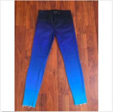 J Brand Women Jeans 24 Blue Barneys New York Rob Pruitt Skinny Ombre Stretch