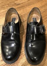 Kenneth Cole Black Leather Loafers with Buckle detail, Size 9 M