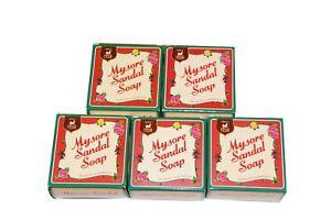 5 X Mysore Sandal Soap 150Gm / Pure Sandalwood oil