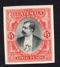Guatemala 1900s cinco pesos stamp MH Proof R!R!R!