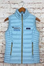NWT Women's Patagonia Goose Down Vest Tubular Blue 800 Fill Jacket Sz XS