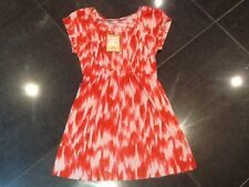 NWT Juicy Couture New Ladies Size Small Red & Pink Cotton Summer Dress UK 8/10