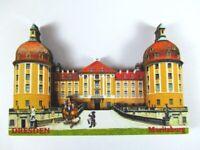 Dresden Moritzburg 3 D Holz Souvenir Deluxe Magnet,Germany Deutschland,Neu