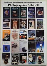 Photographica Cabinett Inhaltsverzeichnis Hefte 1-50, vergriffen, Sammlermagazin