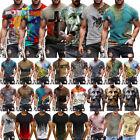 NEW Men Summer 3D Short Sleeve Pullover T-Shirt Printed Crew Neck Top Tees Shirt