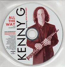 "KENNY G ""ALL THE WAY"" SPANISH PROMO CD SINGLE / BRIAN McKNIGHT"